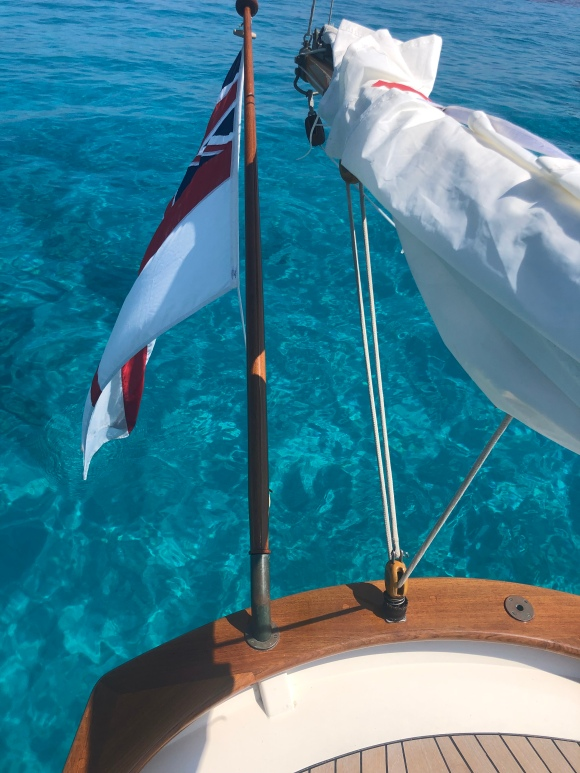 White Ensign at rest